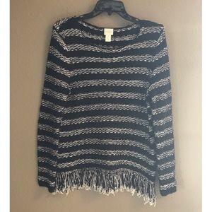 Chico's Vintage Fringe Sweater